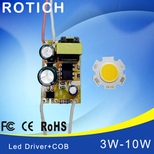 3W 5W 7W 10W COB LED +driver power supply built-in constant current Lighting 85-265V Output 300mA Transformer(China)