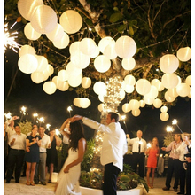 Wholesale (10pcs/lot) 16''(40cm) Chinese Paper Lantern Lamp Festival Wedding Party Decoration White Round Multi Color Lanterns