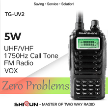 High Quality QUANSHENG TG UV2 Ham Radio Dual Band 5W QUANSHENG TG-UV2 VHF UHF Powerful Walkie Talkie With FCC CE Certification
