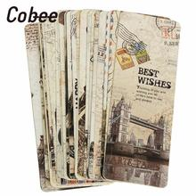 Cobee 30Pcs New European Scenery Note Pad Bookmarks Tab For Books Memo Label Stationery Book Page Marker Funny Gift Accessories