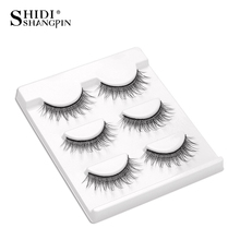 3 Pairs handmade lashes natural false eyelashes long fake eyelashes makeup eyelash extension kit wispy faux eye lashes BL20(China)