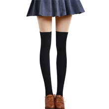 Mileegirl Sexy Fashion Women Girl Thigh High Stockings Knee High Socks,5 Colors Cute Long Cotton Warm Over The Knee Socks(China)