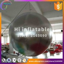 advertising outdoors large christmas event inflatable ornaments silver ball