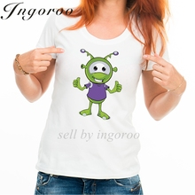 Babaseal Fashion Little Green Alien Two Thumbs Up Vintage Tshirt Batwing Kawaii Shirt Funny Graphic Tee Designer Women Tops