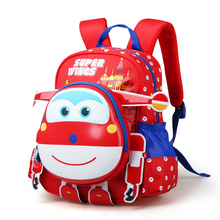 2017 Limited Anime Robot Body Backpack Toys & Hobbies Baby Kindergarten Study Stationary Super Wings Action Figure School Bag