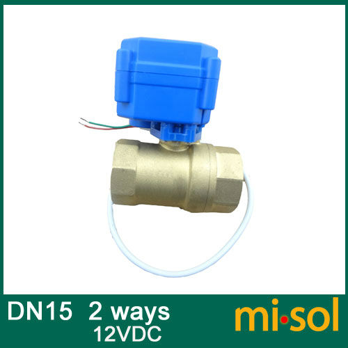 Free shipping 1pcs motorized ball valve DN15, 2 way, electrical valve<br><br>Aliexpress