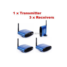 5.8Ghz IR 200 meters Wireless AV Audio Video 1 sender and 3 Receiver IR Remote Extender