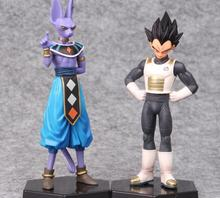 2pcs/set 15-17cm Dragon Ball Z Vegeta and Beerus PVC Figures Collectible Model Toys
