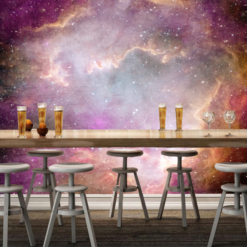Modern photo murals, the Milky Way Galaxy natural landscape murals for childrens room living room ceiling background wallpaper <br>