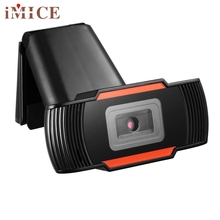 Beautiful Gift Brand New Red HD 12 Megapixels USB2.0 Webcam Camera with MIC Clip-on for Computer PC Laptop Wholesale price Dec25
