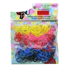 New Fashion Free shipping 500pcs/lot Rubber Hairband Rope Ponytail Holder Elastic Hair Band Ties Braids Plaits May6