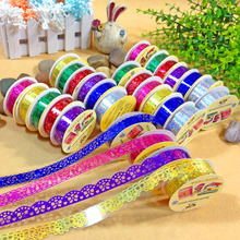 2 Pcs Children Handmade Cute Glitter Photo Props Lace Flower Tape for Scrapbook Photos Decor Frame Photo Album(China)