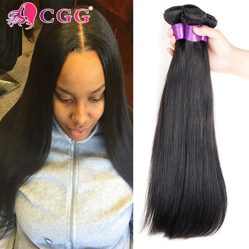 3 Bundles Brazilian Virgin Hair Straight Top 7A 100% Human Hair Weaving Unprocessed Brazilian Straight Hair Bundles No Shedding<br><br>Aliexpress