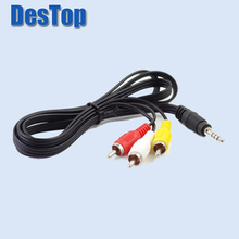 3.5mm Jack to 3 Port RCA Male Plug Adapter Audio Converter Video AV Cable 1M For Freesat V7 HD FREESAT V7 MAX satellite Receiver