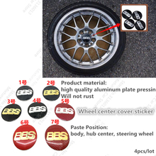 4pcs/lot 56mm BBS Wheel Center Caps Hub Cover Emblem Sticker Fit For GOLF R GT GTI(China)