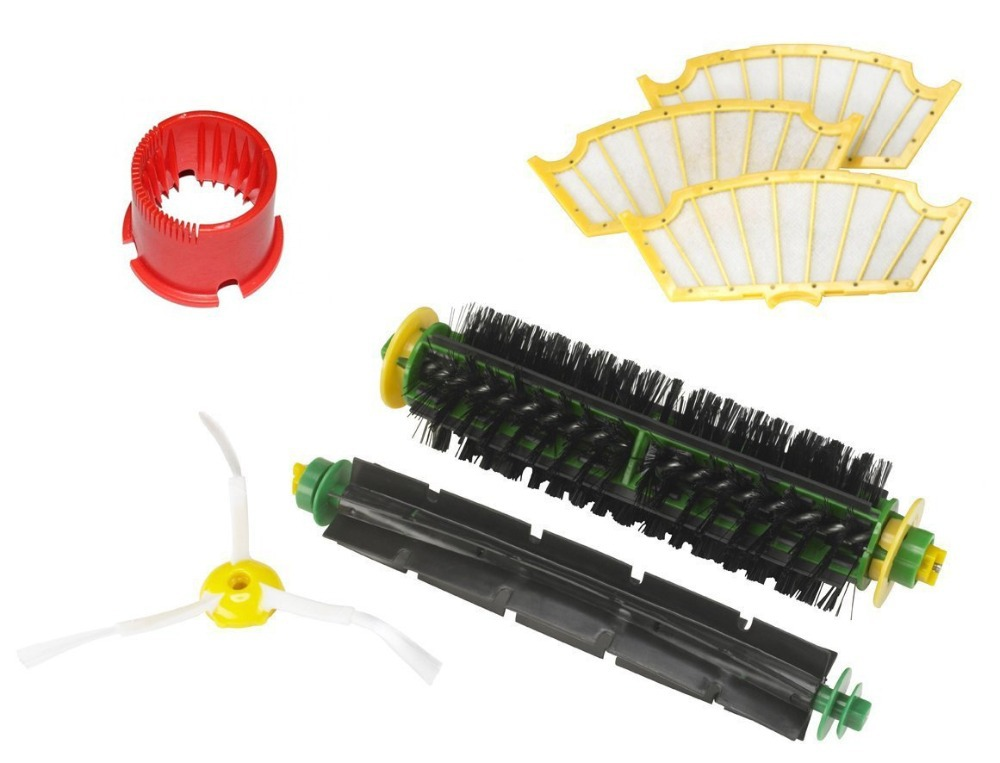 Bristle Brush Flexible Beater Brush 3-Armed Side Brush Filter Cleaning Tool Pack Kit For iRobot Roomba 500 Series<br><br>Aliexpress