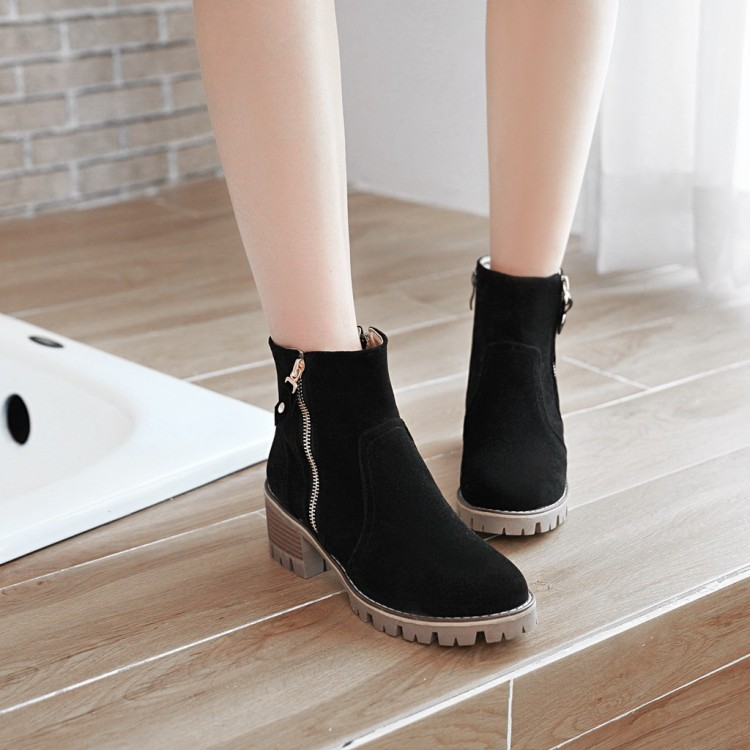 SALCXOI 2017 autumn chelsea boots shoes woman flock female riding boot ladies casual ankle boots for women free shipping  &131