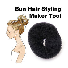 New Arrival Size 6cm Hair Styling Donut Magic Sponge Bun Ring Maker Former Twist Tool Hair Disk(China)