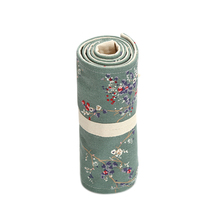 36/48/72 Holes Canvas Pencil Bag Floral Stationery Roll Pencil Case Sketch Pencil Brush Bag Kits Rolling Up Holders Bag