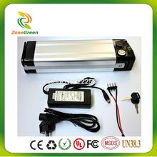 Excellent 36v 10ah LiFePO4 electric bike battery lithium battery 36v rechargable battery 1500 times cycles BMS and charger(China)