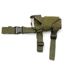 1pcs Waterproof Outdoor Hunting Military Tactical Puttee Thigh Leg Pistol Gun Holster Pouch Wrap-around Bag Khaki/Green/CP/ACU