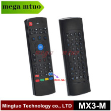 6 Axis with Mic Mini Keyboard 2.4GHz Wireless Remote Control MX3-M 3D Air Fly Mouse for Android TV Box(China)
