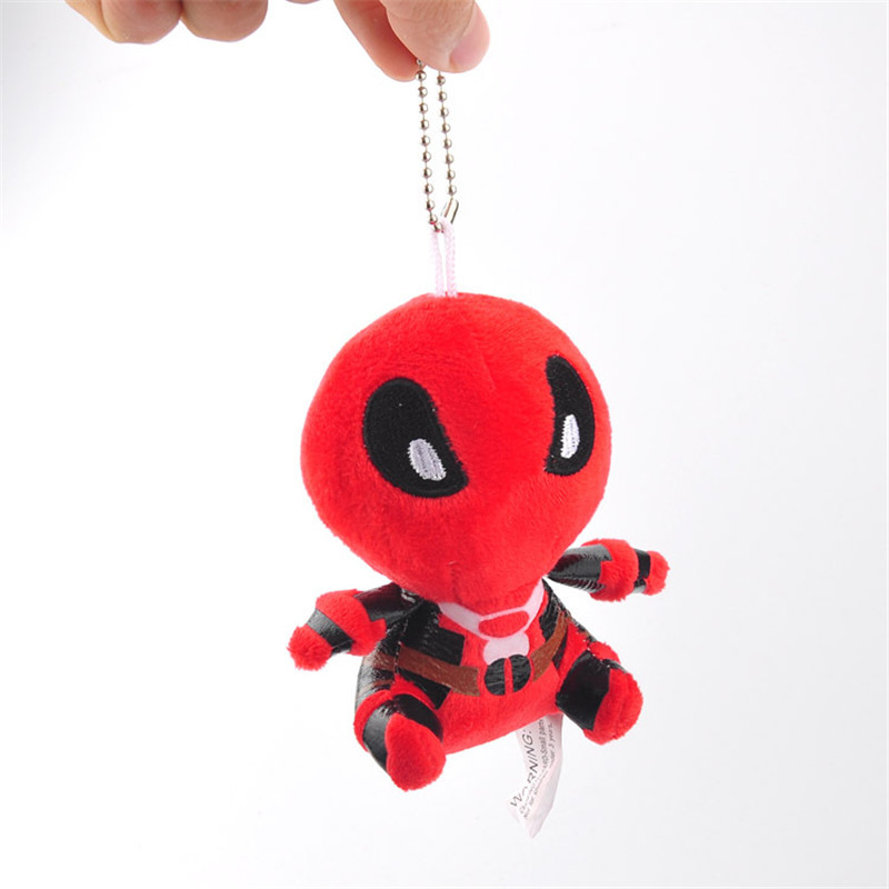 Movie Super Heroes X-Men Deadpool Plush Toys Key Bag Pendants Dolls Peluche Keychain 10pcslot 11cm  (1)