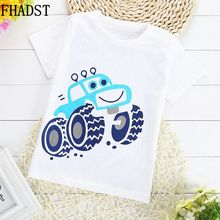 FHADST New Summer Fashion Children Cotton T-Shirts Boy Clothes Baby Short Sleeves Character Sport Tops Casual Lovely Coat Kids