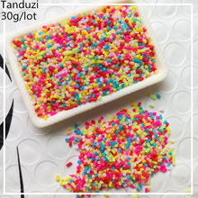 Tanduzi 30g 1-3mm Fake Colorful Chocolate Sprinkles Sugar Candy Needle Simulation Ice Cream Cake Cookies Decorative Polymer Clay(China)