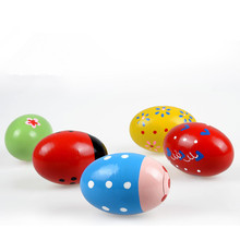 EFHH Children Musical Instruments Wooden Cartoon Colorful Sand Egg