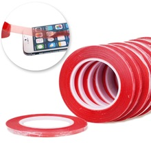 1Roll 2mm*25m Red High Strength Acrylic Gel Adhesive Double Sided Tape/ Adhesive Tape Sticker For Phone LCD Screen