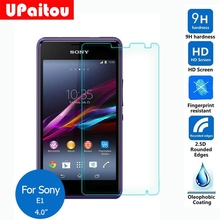 UPaitou Screen Protector For Sony Xperia E1 Tempered Glass Safety Protective Film on D2004 D2005 D2104 D2105 D2114 Dual 4.0