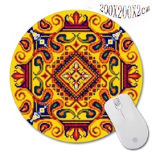Sell  Persian carpet style New Arrivals 200*200*2mm Print Design Round Mouse Pad Antiskid Rubber Mat game Mouse Pad, Office Gift