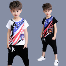 COOL Design Summer Boy Sets 2017 Clothing Set Summer Print Shirt + Short Pants Baby Boys Clothing Set Cotton Toddler Boy Clothes