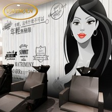 Custom photo wallpaper 3D Vintage clothing shop beauty salon girl wallpaper barber salon manicure store wallpaper mural