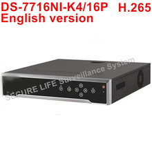 Buy stock DS-7716NI-K4/16P English version 16CH NVR 4 SATA 16 POE ports, 4K NVR POE H.265 8MP for $445.00 in AliExpress store