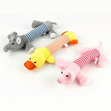Dog Toys For Small Large Dogs 1 PC Funny Squeaky Plush Sound Toys Squeaker Pig Elephant Duck Shape Pet Chew Toy Wholesale 30JE8
