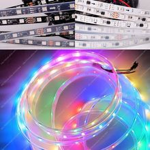 12V WS2811 5050SMD Digital RGB Dream Color Pixel LED Strip 10mm Black/White PCB,30/48/60 led/m,10/16/20 ws2811ic/m, IP20/65/67