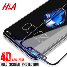 H&A 4D Curved Premium Tempered Glass For iPhone 7 6s Plus Full Cover Screen Protector For iPhone X 10 8 7 6 Plus Tempered Glass(China)
