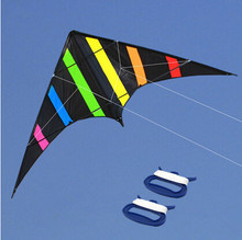 Outdoor Fun Sports  NEW  48 Inch  Dual Line Stunt  Kites  /Aurora Kite  With Handle And Line Good Flying