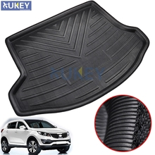 Rear Trunk Liner Cargo Boot Mat Floor Tray Protector Carpet Mud Kick Pad For KIA Sportage R 2011 2012 2013 2014 2015(China)