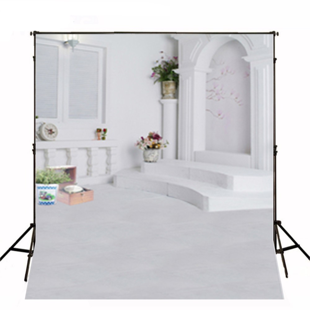 Wedding Dress Backgrounds White Wall Flowers photo backdrop High-grade Vinyl cloth Computer printed wall  Backgrounds<br><br>Aliexpress