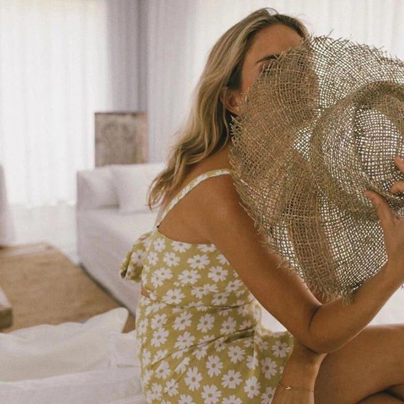 Fibonacci 2019 New Fashion Hot Hollow Big Brim Sun Hat For Wide Brim Summer Straw Beach Women Hats