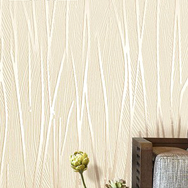 Modern 3D Wallpaper Roll Plain Texture Embossed White Beige Grey Vertical Stripes Wall Paper Home Decor bedroom wallcovering<br><br>Aliexpress