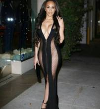Celebrity Fashion Dress Floor Length Sexy Bodycon Dress Front Zipper Sexy Red Carpet Dress HL Bandage Dress