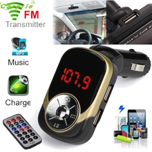 High Quality LCD Car MP3 MP4 Player Wireless FM Transmitter Modulator SD/ MMC Card w/ Remote(China)