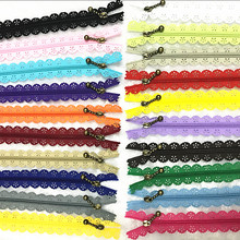 10pcs mix Quality Novelty Full Length 30cm 12 inch DIY Nylon Coil Flower Zipper Lace Zippers for DIY Sewing Tailor Craft Bed Bag(China)