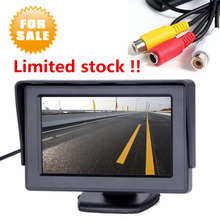 Foldable 4.3 inch TFT LCD Car Monitor Car Reverse Parking monitor with LED backlight display for Rear view Camera DVD