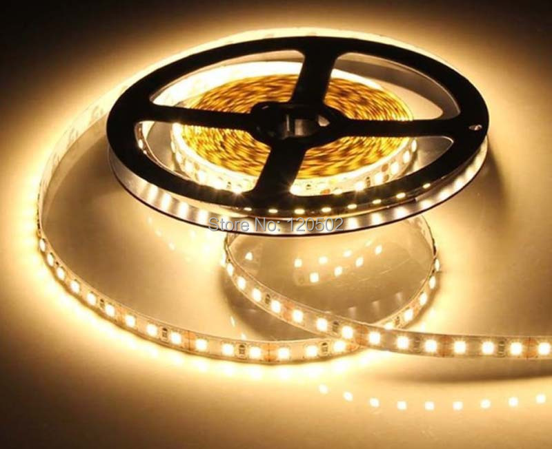 12V 120LED/m 5m/lot 2835 LED strip flexible lightBrightness as 5050 Non-Waterproof low power high brightness 2835 120 led strip(China)