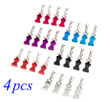 Free Shipping 4PCS 1/10 1/8 RC Car Housing Clip Car Body Shell Clips Pins R Clamps Spare Part For RC Car Model